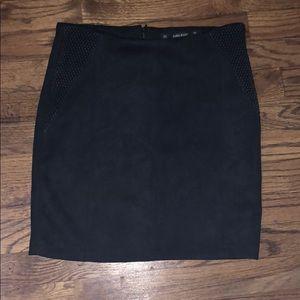 Zara mini suede skirt